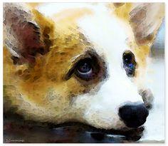 """That Look"" Corgi Dog Pet Portrait Sharon Cummings . . . . . ."