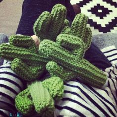 Just a few more to make...knitting Arizona Cacti