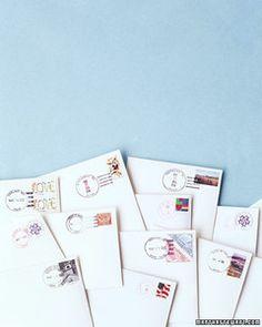 Addressing and Mailing Invitations   Martha Stewart Weddings