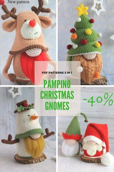 Pdf Patterns, Amigurumi Patterns, Knitting Patterns, Crochet Patterns, Christmas Gnome, Christmas Crafts, Crochet Snowman, Needlecrafts, Christmas Settings