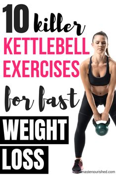 Kettlebell exercises are one of the best ways to lose weight fast. Click through to find out 10 of t Kettlebell exercises are one of the best ways to lose weight fast. Click through to find out 10 of the best kettlebell exercises for weight loss Source by Quick Weight Loss Tips, Weight Loss Help, Losing Weight Tips, Weight Loss Plans, Weight Loss Program, How To Lose Weight Fast, Reduce Weight, Workout To Lose Weight Fast, Exercise For Weight Loss