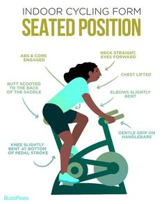 When you're seated on the bike: