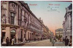 Bucuresti - str Lipscani - 1906 - e pe lista Bucharest, Barbarian, Romania, Louvre, Street View, Europe, Memories, History, Country