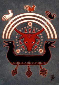 "#Veles, #slavic_gods, #mythology, #pagan, #slavic_mythology, #pagan_mythology   ""By His Name"" http://vesemir.blogspot.ru/2015/09/blog-post_18.html"