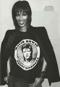 Iman wearing husband David Bowie