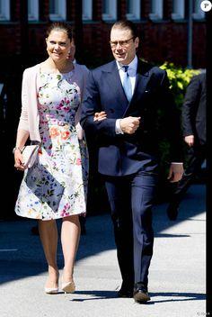 6 June 2016 - Crown Princess Victoria and Prince Daniel at the citizenship ceremony - dress by Oscar De La Renta, shoes by Dior