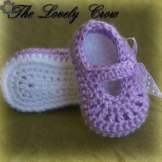 Maryjanes Crochet Pattern Maryjanes for BABY RIBBON MARYJANES