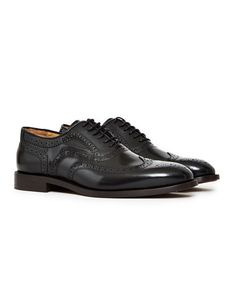 Hudson Heyford Hi Shine Brogue Black