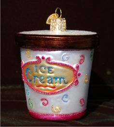 Yea! For Ice Cream! Personalized Christmas Ornament