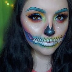 @mrhmakeup used the RADIOACTIVE stack for this awesome skull look!  check out her page for more makeup details !! #meltcosmetics #meltradioactive