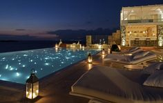 Bill&Coo - Myconos, Greece Resort #facades #lighting #project #LED