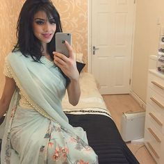 Beautiful mint green pearl saree from @ffashionaire I don't actually know how…