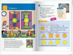 """Unidad 13 de Matemáticas de 4º de Primaria: """"Polígonos"""" Leo, Cultura General, Bullet Journal, Author, Editorial, Interactive Activities, United States, Unity, Lion"""