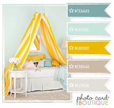 Teal Nursery Color.  Sailor Style Room. #CoastalDesign Blues, Yellow and greys.  I don't know the paint company.  I can help you find similar Hues.  #PaintSelection.