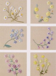 PDF pattern of Flower hand embroidery in vintage style nä- PDF-Muster von Flower Handstickerei im Vintage-Stil nä PDF Pattern of Flower Hand Embroidery in … - Embroidery Stitches Tutorial, Flower Embroidery Designs, Simple Embroidery, Embroidery Transfers, Japanese Embroidery, Silk Ribbon Embroidery, Crewel Embroidery, Hand Embroidery Patterns, Vintage Embroidery