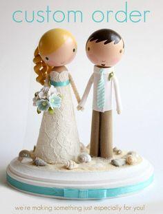 custom wedding cake topper  order for  VIOLETA by lollipopworkshop, $150.00