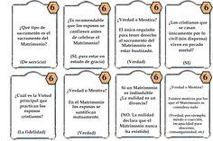 Juego los siete sacramentos.preguntas matrimonio 2 La samaritana, juegos de nueva evangelizacion