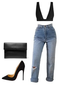 """""""my baby hate it when i'm on the block block."""" by stephcoco ❤ liked on Polyvore featuring Christian Louboutin, Marni and Zimmermann"""