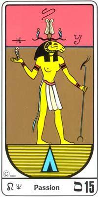 15. La Pasión (El Diablo) en el Tarot Egipcio Kier