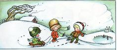 """Winter from """"Morning is a Little Child"""" by Joan Walsh Anglund"""