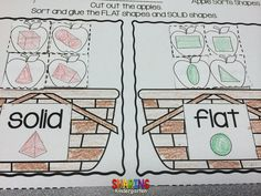 Solid and Flat... shape sorting...