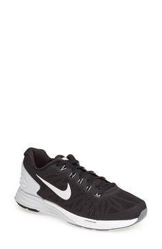 Nike 'Lunarglide 6' Running Shoe - Women's Size 8 - Mesh black/cool grey/white