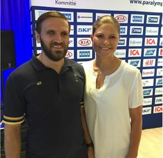 Crown Princess Victoria met the Swedish Paralympic team at the Scandic Victoria Tower in Stockholm