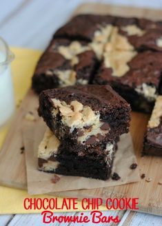 Next time you can't decide between a cookie and a brownie, don't choose. Make these chocolate chip cookie brownie bars and enjoy both!
