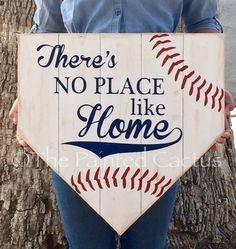 """It's HERE! Our pallet style home plate sign is in our store! Put it by your front door to greet your guests or in a kids bedroom! You really can't go wrong with sign. Grab yours while it's in """"season"""""""