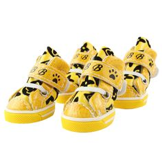 Anti-Skidding Waterproof Golden Yellow Pet Shoes Boots