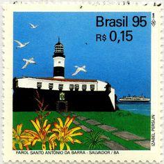 Faros brasileños: Faro Santo Antonio de Barra: Brasil 1995