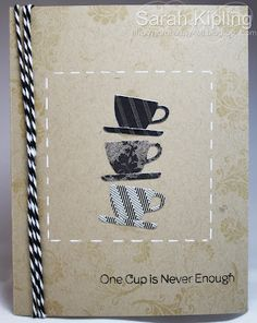 Great ideas here for my small tea cups dies.   SGD Presents...: Teapot cards