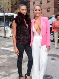 Laura and Gloria Govan at Sun Jung Wan Fashion Show in NYC