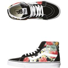 66aba2a55c Vans Womens Sk8 Hi Reissue Digi Aloha Shoe ( 93) ❤ liked on Polyvore  featuring shoes