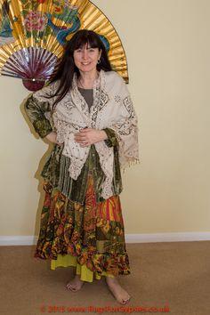 Vintage Lace Hand Beaded Gypsy Shawl by RagsForGypsies on Etsy