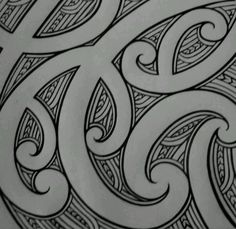 Nice pattern Maori Designs, Stammestattoo Designs, Tribal Tattoo Designs, Tribal Tattoos, Maori Symbols, Pagan Symbols, Maori Patterns, Polynesian Art, Nz Art