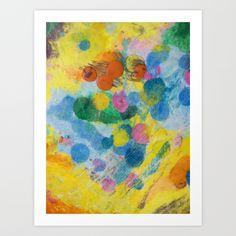 Crayon Love: The Melting Dot Art Print by RokinRonda - $19.55