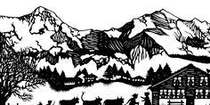 Esther Gerber Scherenschnitte   Bilder, Karten und Geschenkartikel mit Scherenschnitten von Esther Gerber Paper Art, Paper Crafts, Cut Paper, Paper Cutting Templates, Paper News, Winter Scenes, Pyrography, Storyboard, Black Art