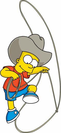 Bart Simpson as a cowboy