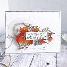 Here's one of the cards from my fall leaf gift set. If you haven't checked out the Artisan hop yet featuring this gorgeous set, make sure… Fall Cards, Christmas Cards, Leaf Cards, Stampin Up Catalog, Beautiful Handmade Cards, Birthday Cards For Men, Thanksgiving Cards, Scrapbook Cards, Scrapbooking Ideas