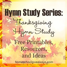 Free Hymn Study Series: Printables, Resources, and Ideas. Free Resources – Yellow House Book Rental
