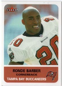 #1 RCB # 2 Buc 19972012 Ronde Barber rookie f