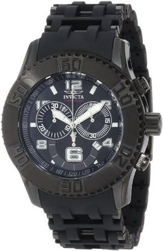 Invicta Men's 6713 Sea Spider Collection Chronograph Black Ion-Plated Watch Invicta. $89.00. Black dial with luminous hands, hour markers and Arabic numerals; tachymeter on inner bezel; Water-resistant to 330 feet (100 M); Durable flame-fusion crystal; brushed and polished black ion-plated stainless steel case; black rubber strap with black ion-plated stainless steel inserts; Chronograph functions with 60 second, 30 minute and 12 hour sub-dials; date function; Precise, high...