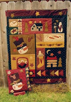 Splendor in the Snow Applique Quilt and Pillow Pattern by Meme's Quilts. $8.00, via Etsy.