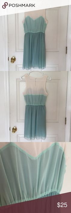Cute Lakeside Dress Great condition. A beautiful sea foam colored dress. Perfect for garden parties, formals, weddings, etc. ModCloth Dresses