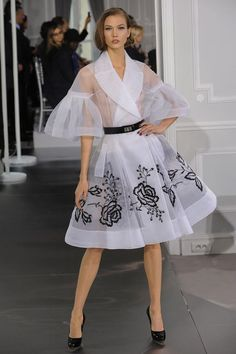#Fashion Dior Haute Couture Collection - I love the sleeves, colour and print reminiscent of the 50s.