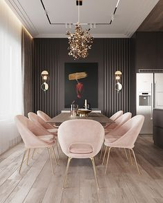 Gold Art Modern Abstract Black Painting on Canvas Huge Gold Painting Original Canvas Large Decor Wall Art For Living Room Luxurious Painting Luxury Dining Room, Dining Room Design, Dining Room Furniture, Design Kitchen, Kitchen Modern, Design Bedroom, Minimalistic Kitchen, Nice Furniture, Bedroom Decor
