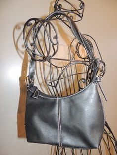 Nine & Company Black Leather Like Hobo Sling by GodOdditiesDecor