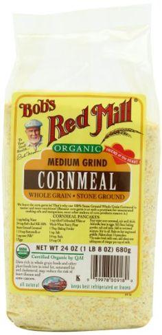 Bob's Red Mill Organic Cornmeal Medium--perfect for corn bread!