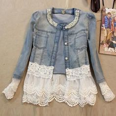 Slim Lace Patchwork Jacket